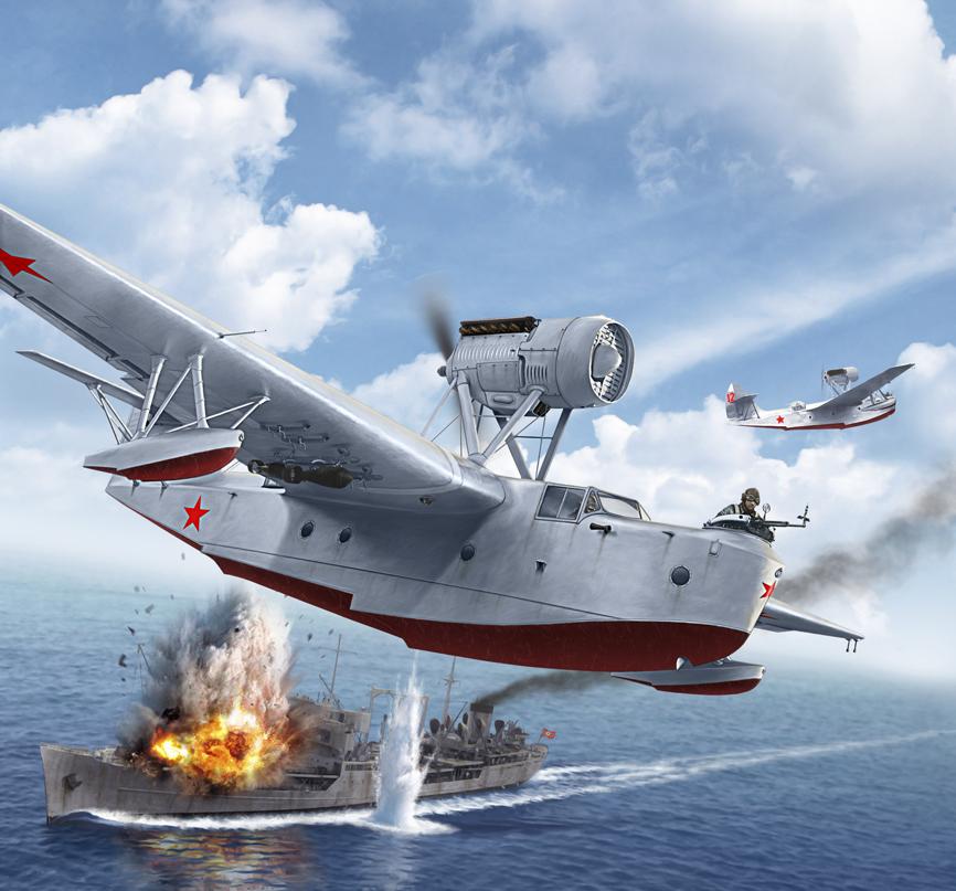 Петелин Валерий. Летающая лодка МБР-2.