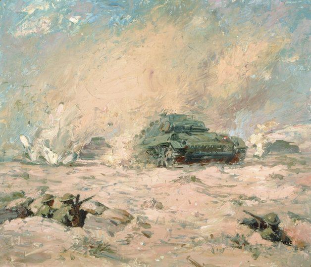 Dargie William. Контрнаступление в El Alamein.