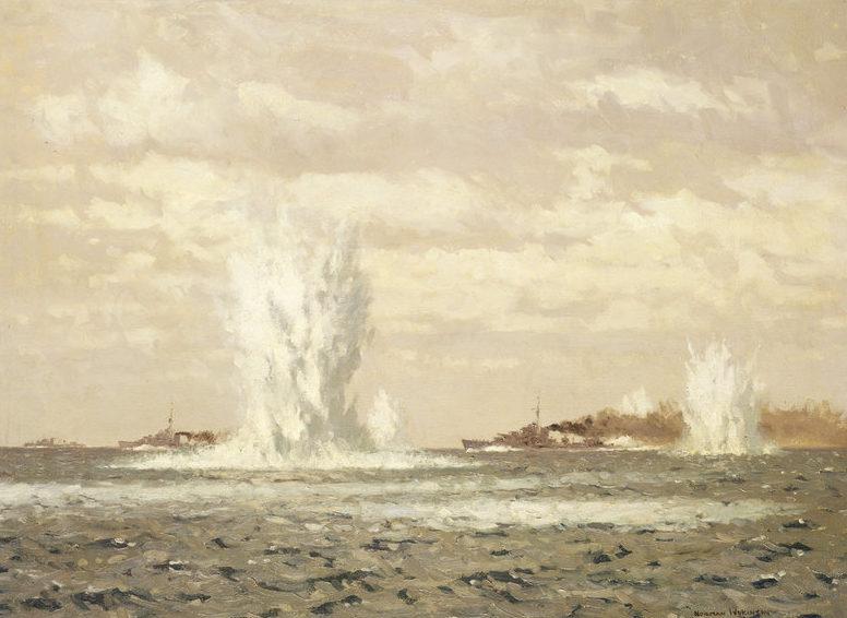 Wilkinson Norman. Эсминцы охотятся за подлодкой.
