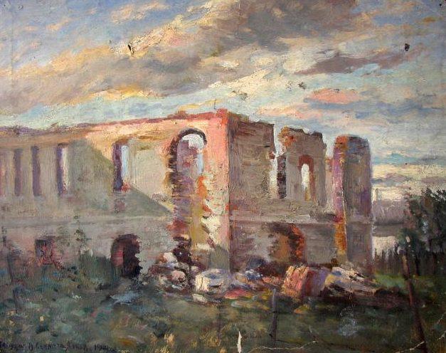 Севастьянов Виктор. Дом, разрушенный бомбой.
