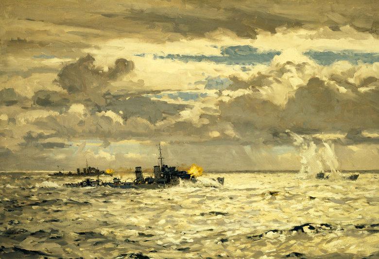 Wilkinson Norman. Подлодка под огнем эсминцев.