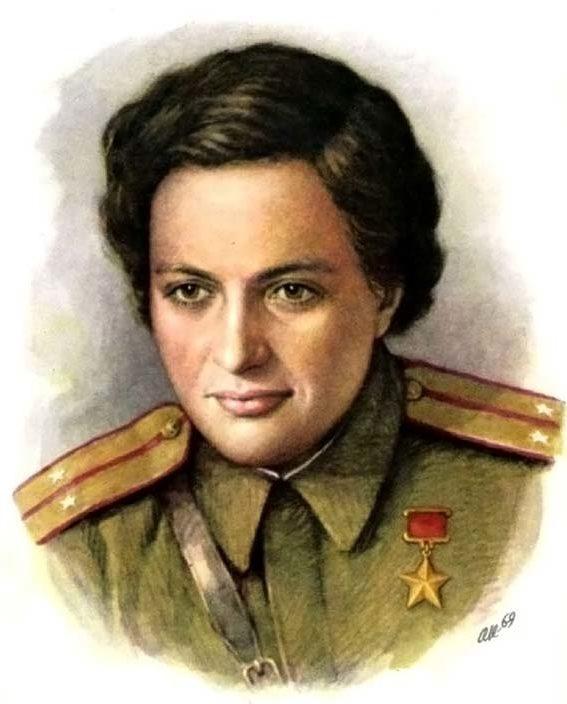 Кручина Александр. Герой Советского Союза Л. Павличенко.