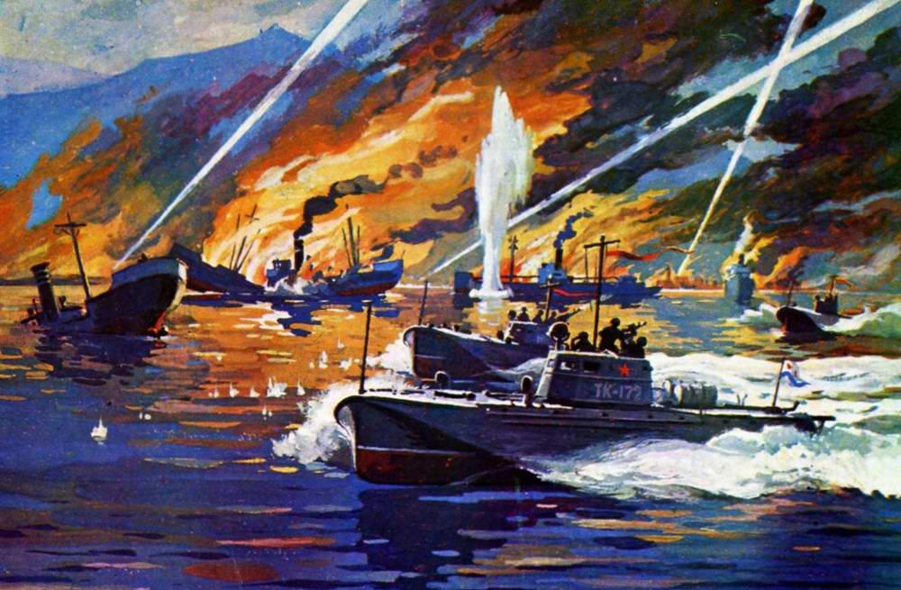 Петелин Валерий. Атака торпедных катеров.