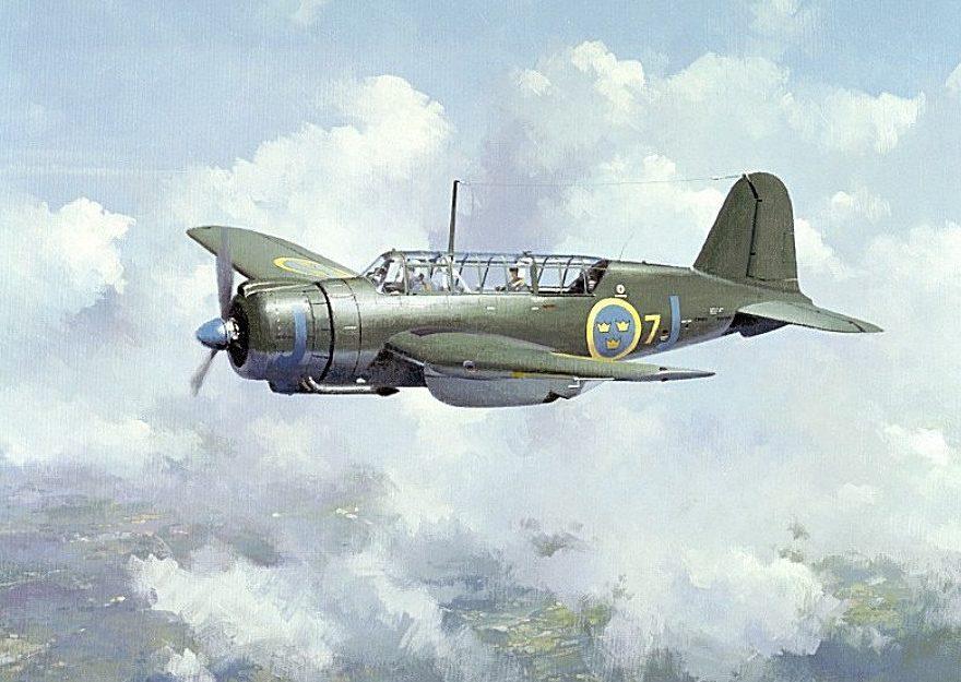Middlebrook Roger. Легкий бомбардировщик SAAB B-17.