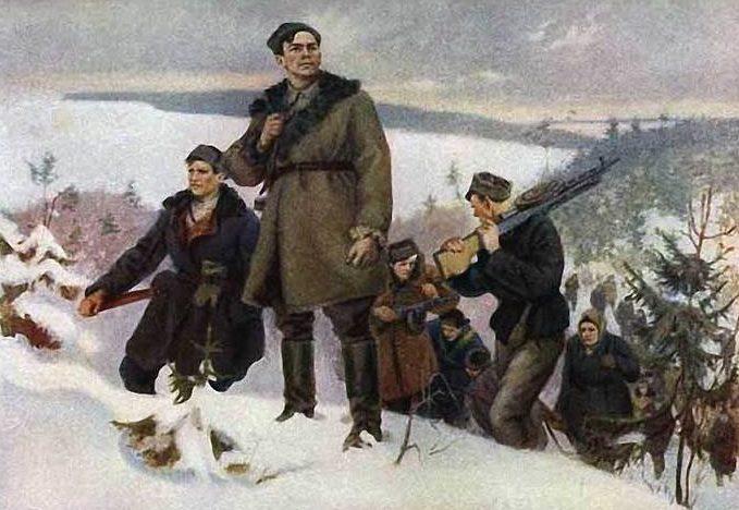 Суховерхов Владимир. Белорусские партизаны.