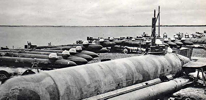 Человеко-торпеды, брошенные немцами в Норвегии.