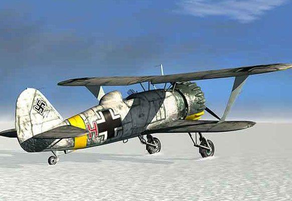 Boucher Jerry. Истребитель Нs-123.