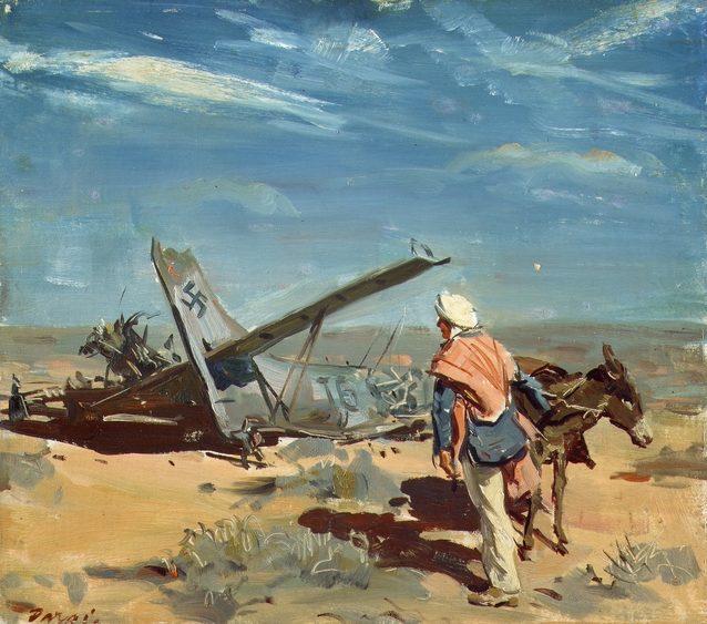 Dargie William. Сбитый бомбардировщик Ju-87 «Stuka».