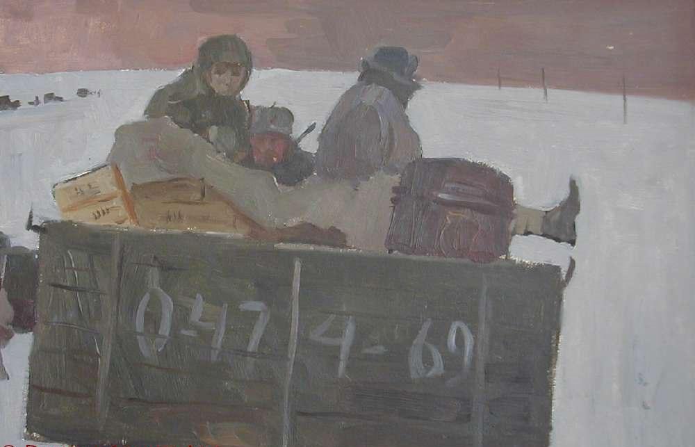 Дятлов Борис. Мы вели машины, объезжая мины. В белоснежных полях под Москвой.
