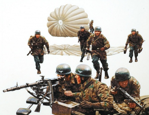 Bechennec Daniel. Немецкие парашютисты.