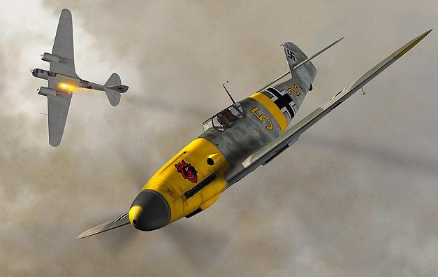 Boucher Jerry. Истребитель Bf-109F-2.
