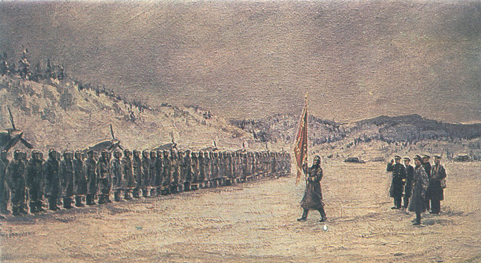 Вялов Константин. Вручение гвардейского знамени.