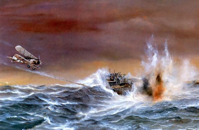 Hamilton John. Гибель подлодки U-752.