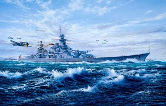 Atack Simon. Сопровождение линкора «Scharnhorst».