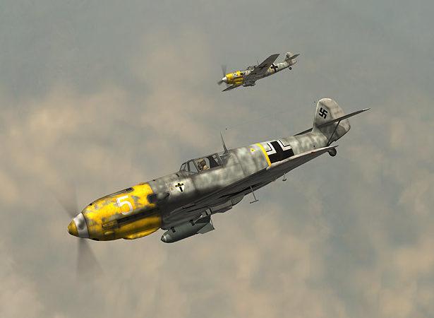 Boucher Jerry. Истребитель Bf-109Е.