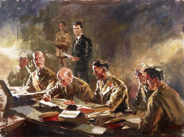 Dargie William. Подписания сирийского перемирия 12 июля 1941 года.
