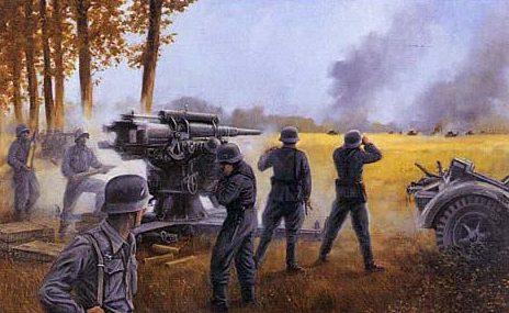 Rowlands David. Зенитные орудия против танков.