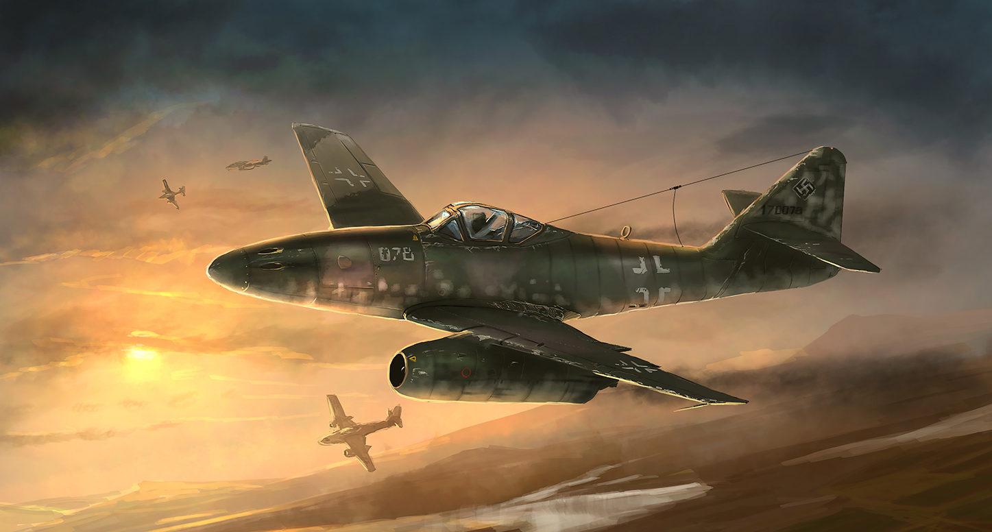 Zhou Lothar. Истребитель Ме-262.