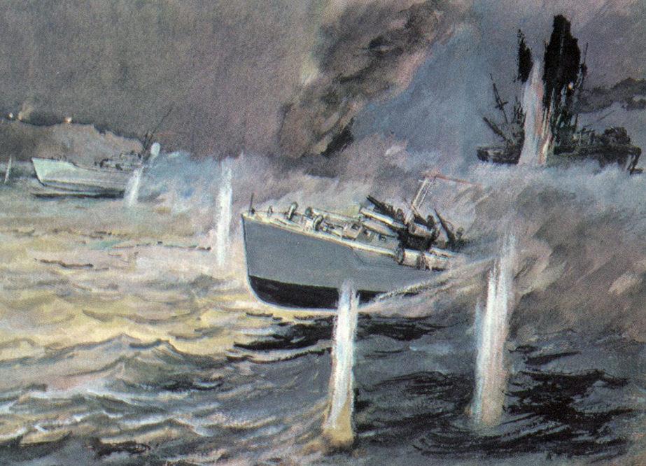 Павлинов Павел. Атака торпедных катеров.