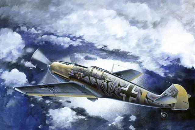 Подгорный Денис. Истребитель Bf 109E-4 B.
