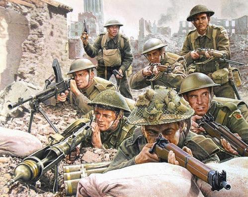 Bechennec Daniel. Британские пехотинцы.