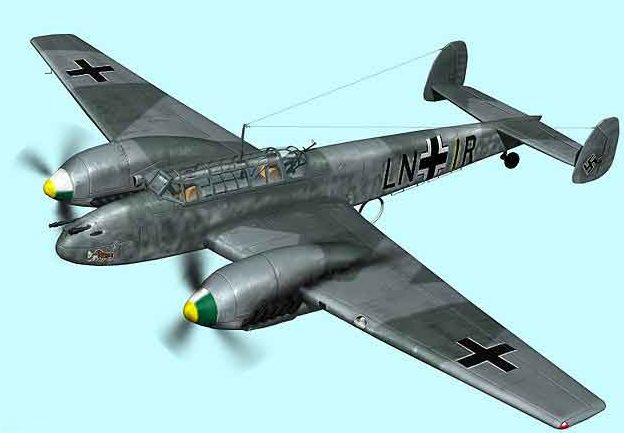 Boucher Jerry. Истребитель Bf-110.