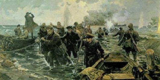 Семенов Алексей. Прокладка кабеля через Ладогу. 1941 год.