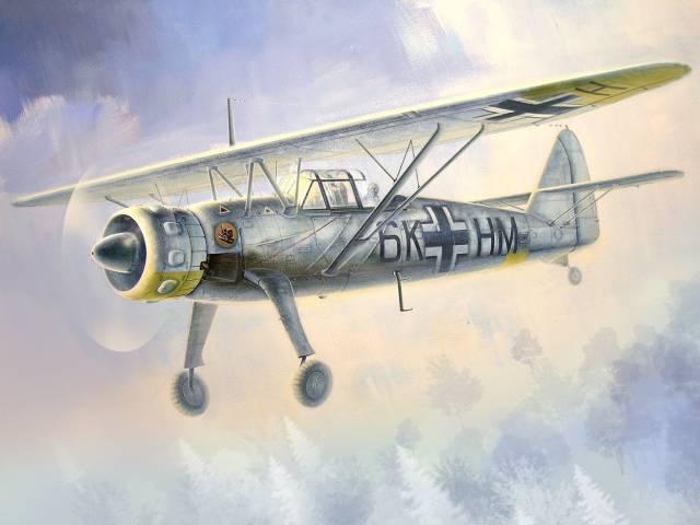Подгорный Денис. Самолет-разведчик Hs 126B-1.
