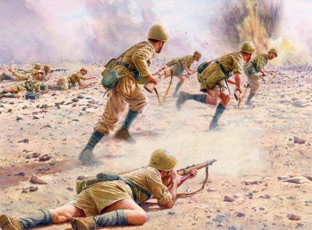 Noon Steve. Атакующие на линии Gazala. 1942 год.