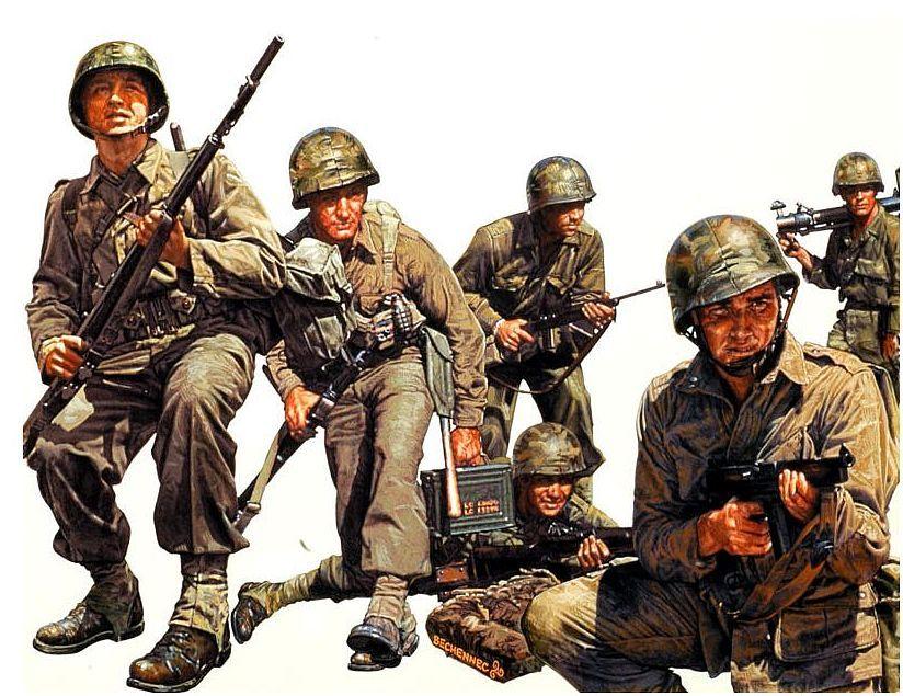 Bechennec Daniel. Американская морская пехота.