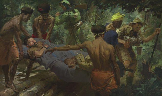 Dargie William. Санитары в Новой Гвинеи.