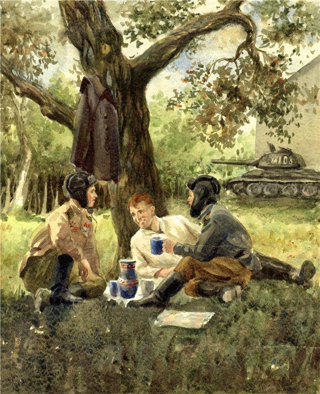Жуков Николай. Три танкиста.
