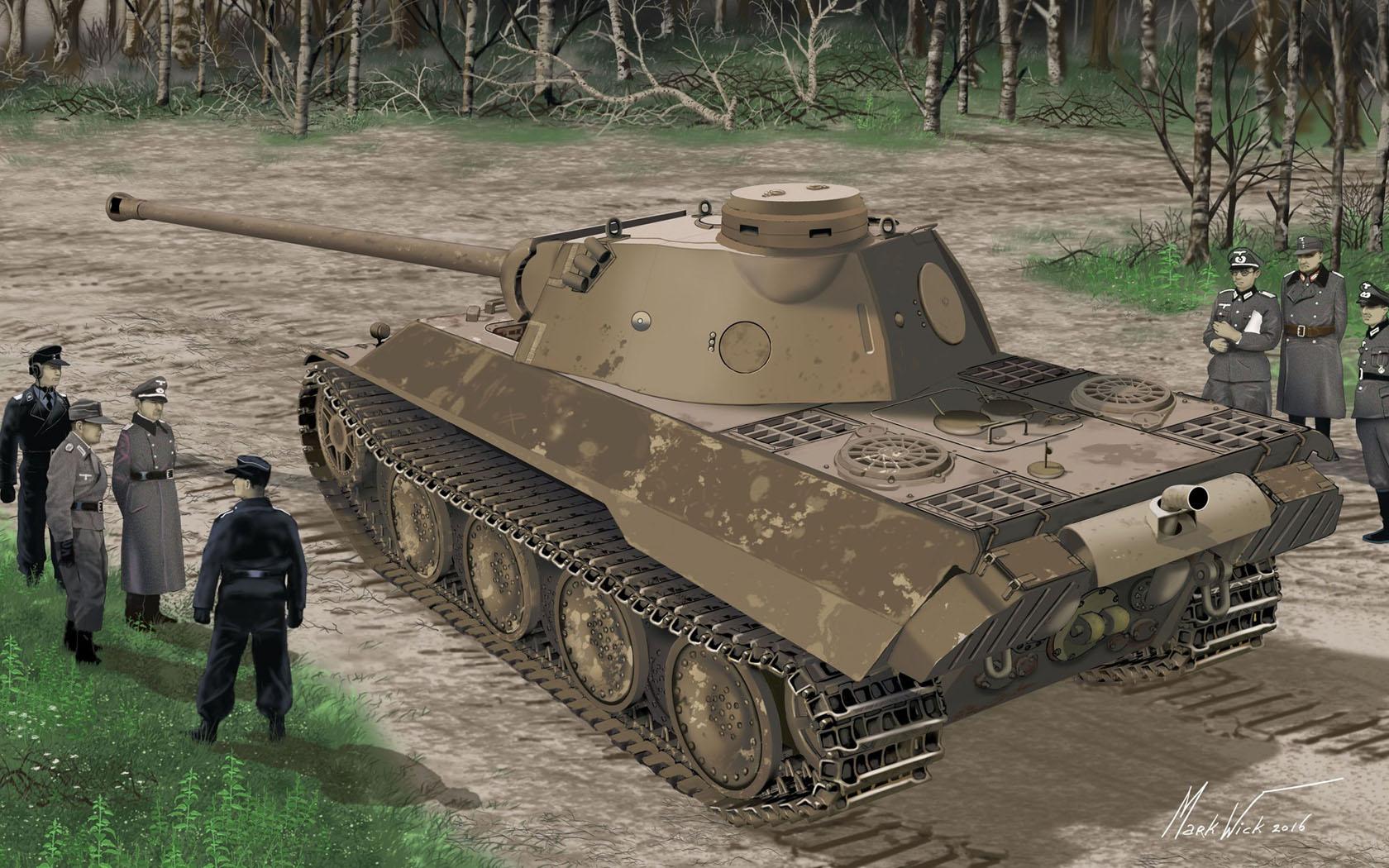 Петелин Валерий. Танк Panther Ausf. D.