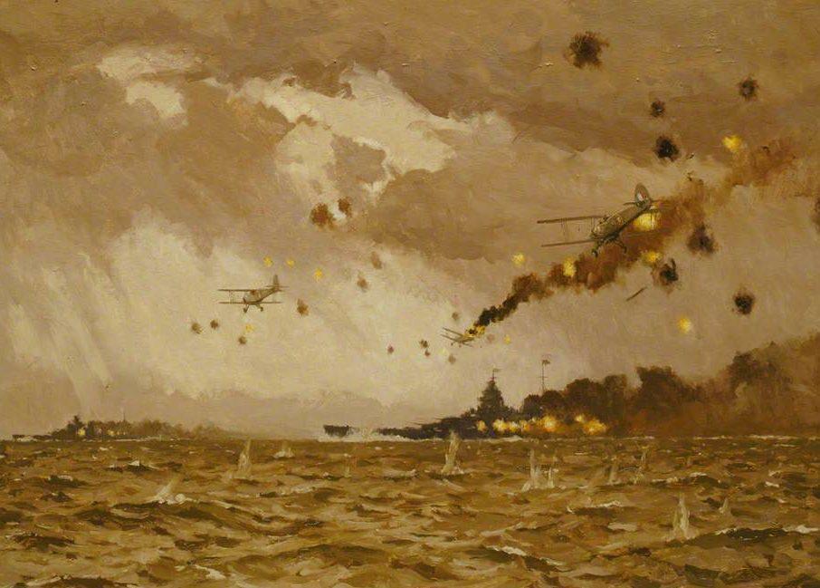 Wilkinson Norman. Нападение на «Scharnhorst» и «Gneisenau».