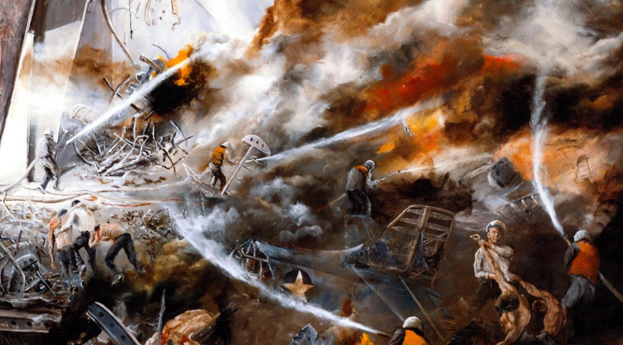 Hamilton John. Пожар на авианосце «Hornet».