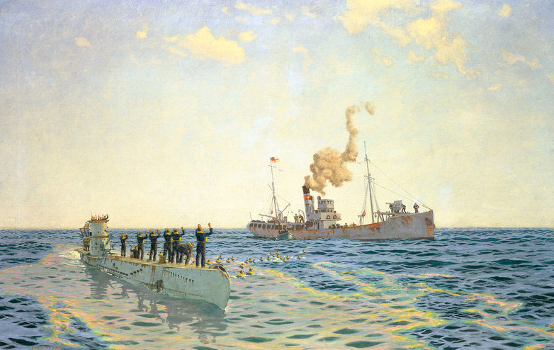 Wilkinson Norman. Пленение экипажа подлодки U-111.