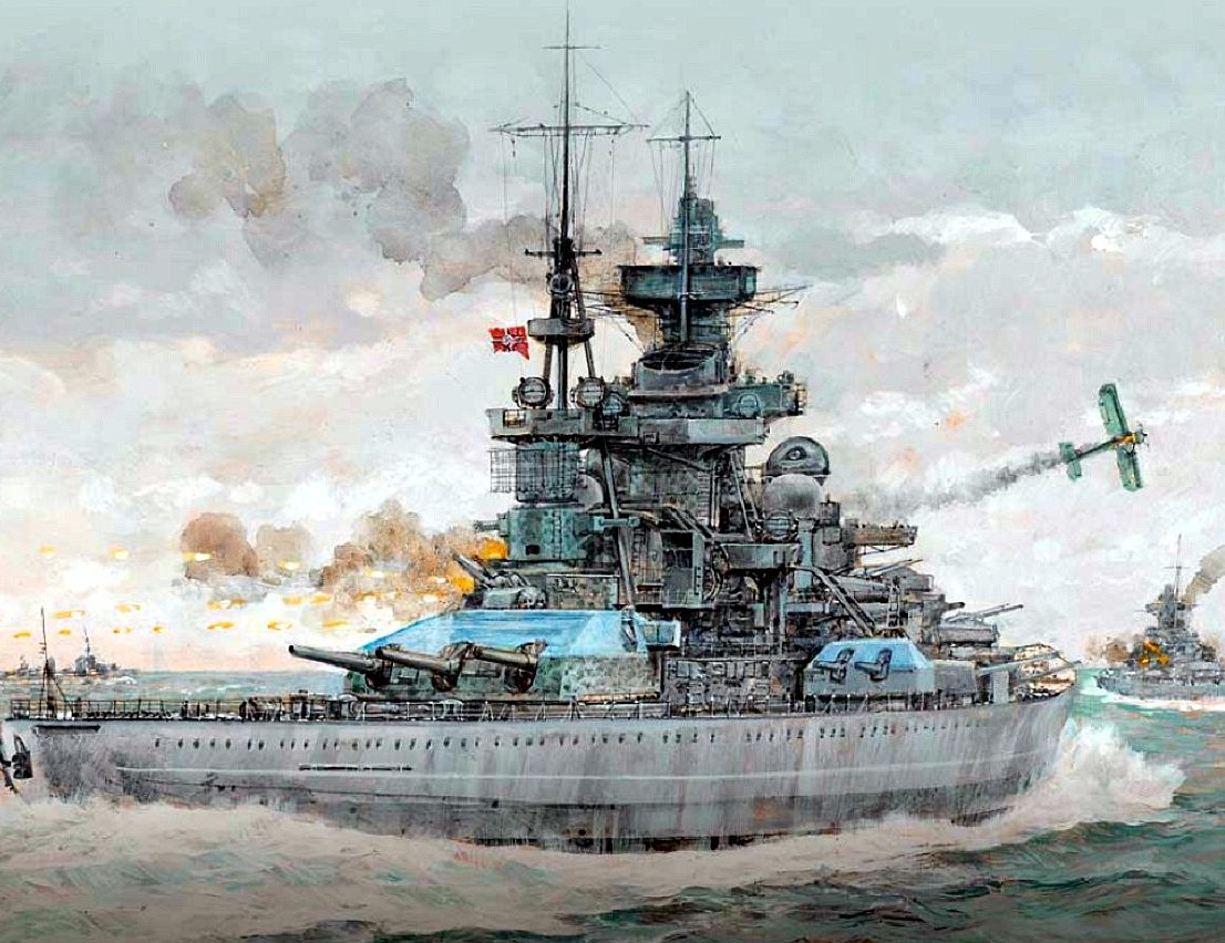 Wright Paul. Линкор «Scharnhorst».