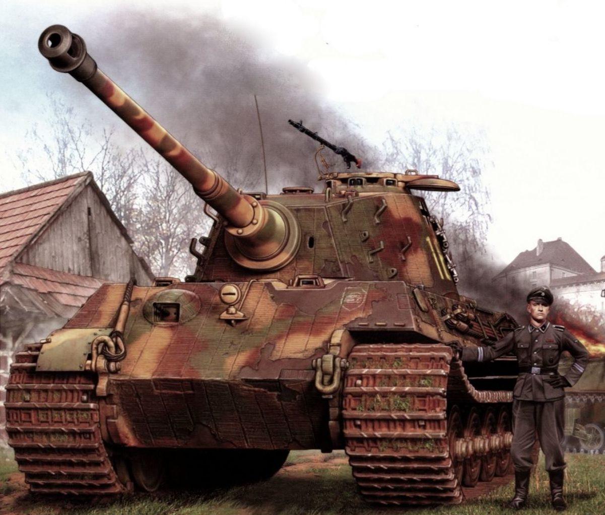 Петелин Валерий. Танк Tiger II.