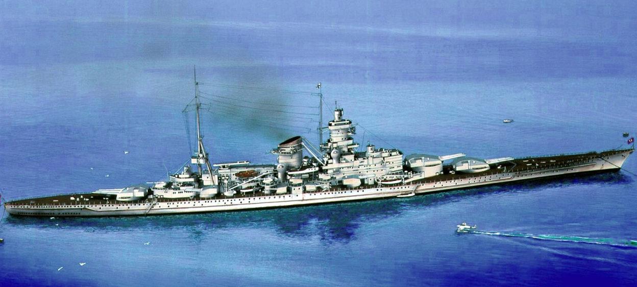 Hennell Thomas. Линкор «Scharnhorst».