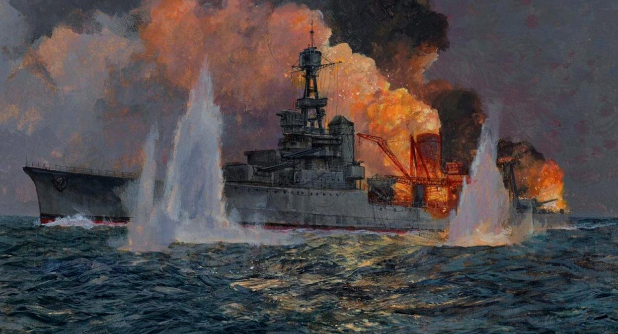 Wright Paul. Тяжелый крейсер «Houston».