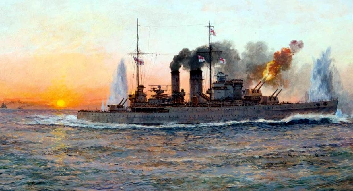 Wright Paul. Тяжелый крейсер «Exeter».