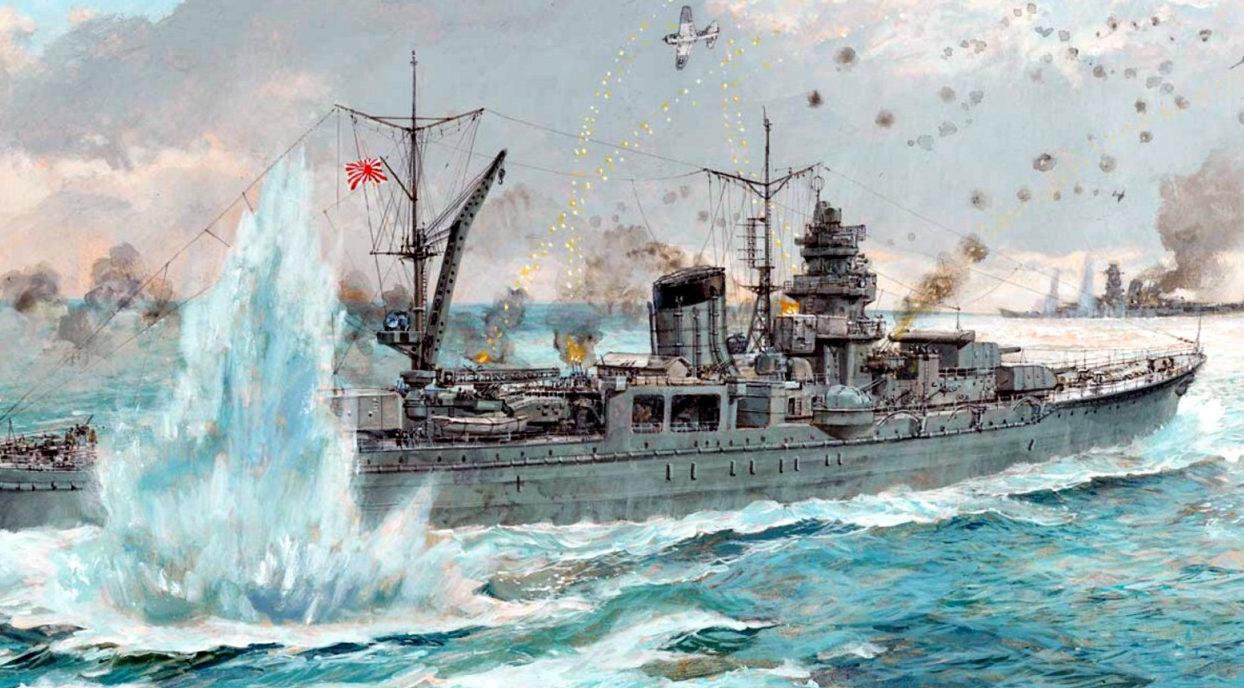 Wright Paul. Легкий крейсер «Yahagi».
