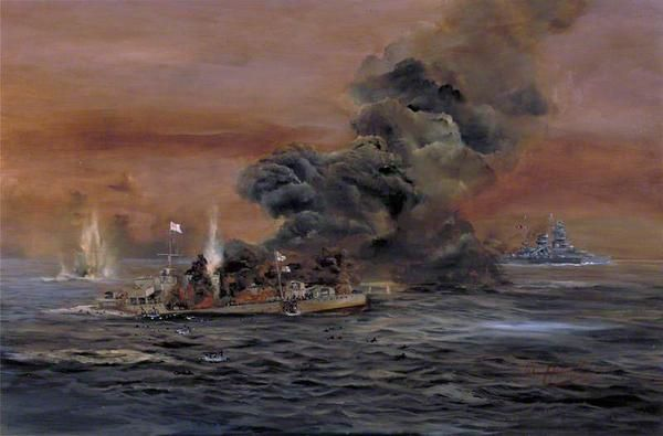 Hamilton John. Пожар на эсминце «Acasta».