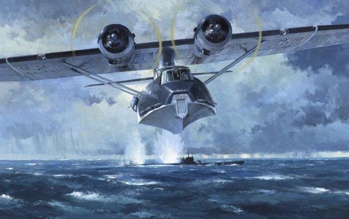 Middlebrook Roger. Летающая лодка Catalina атакует подлодку.