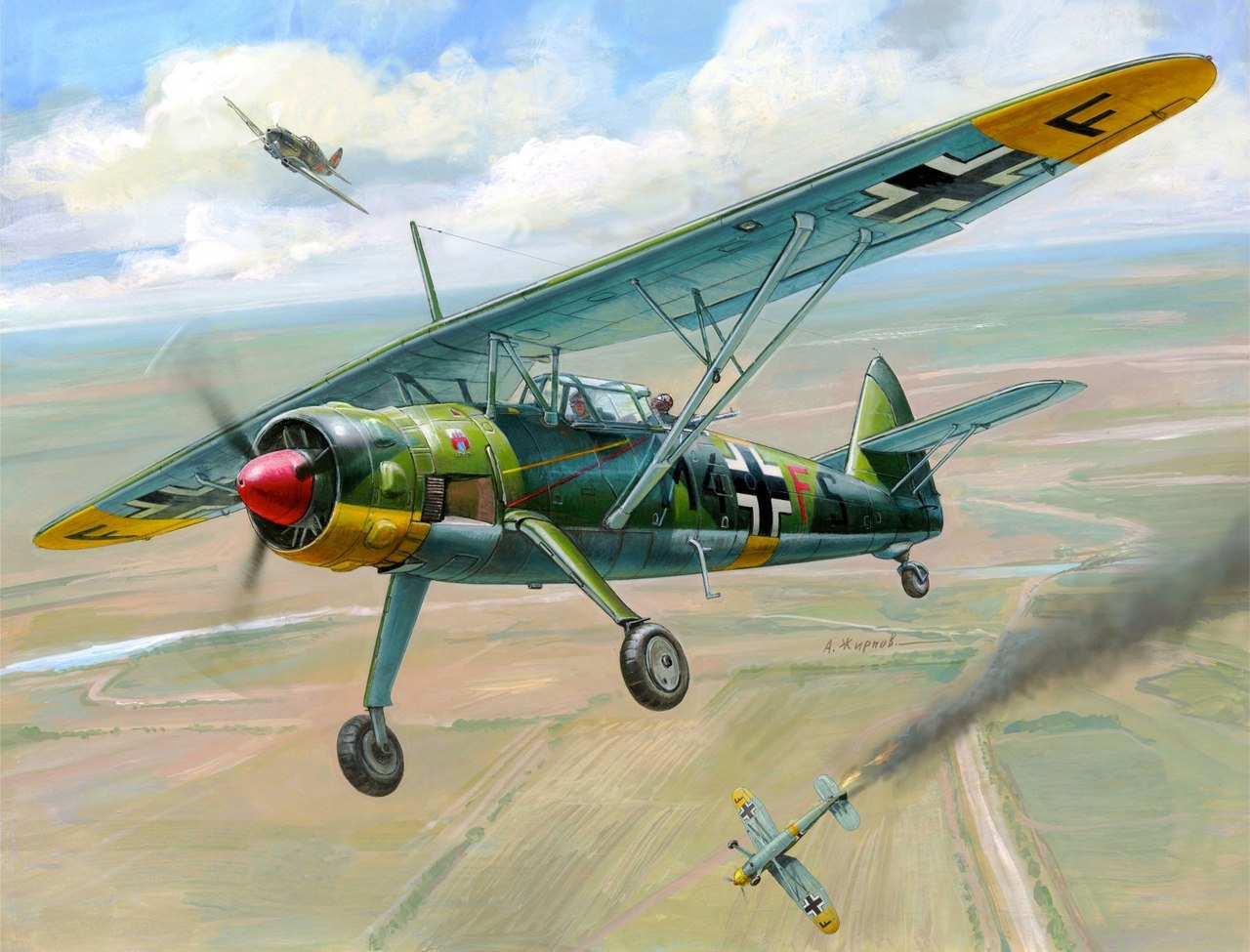 Жирнов Андрей. Самолет-разведчик Hs.126B-1.