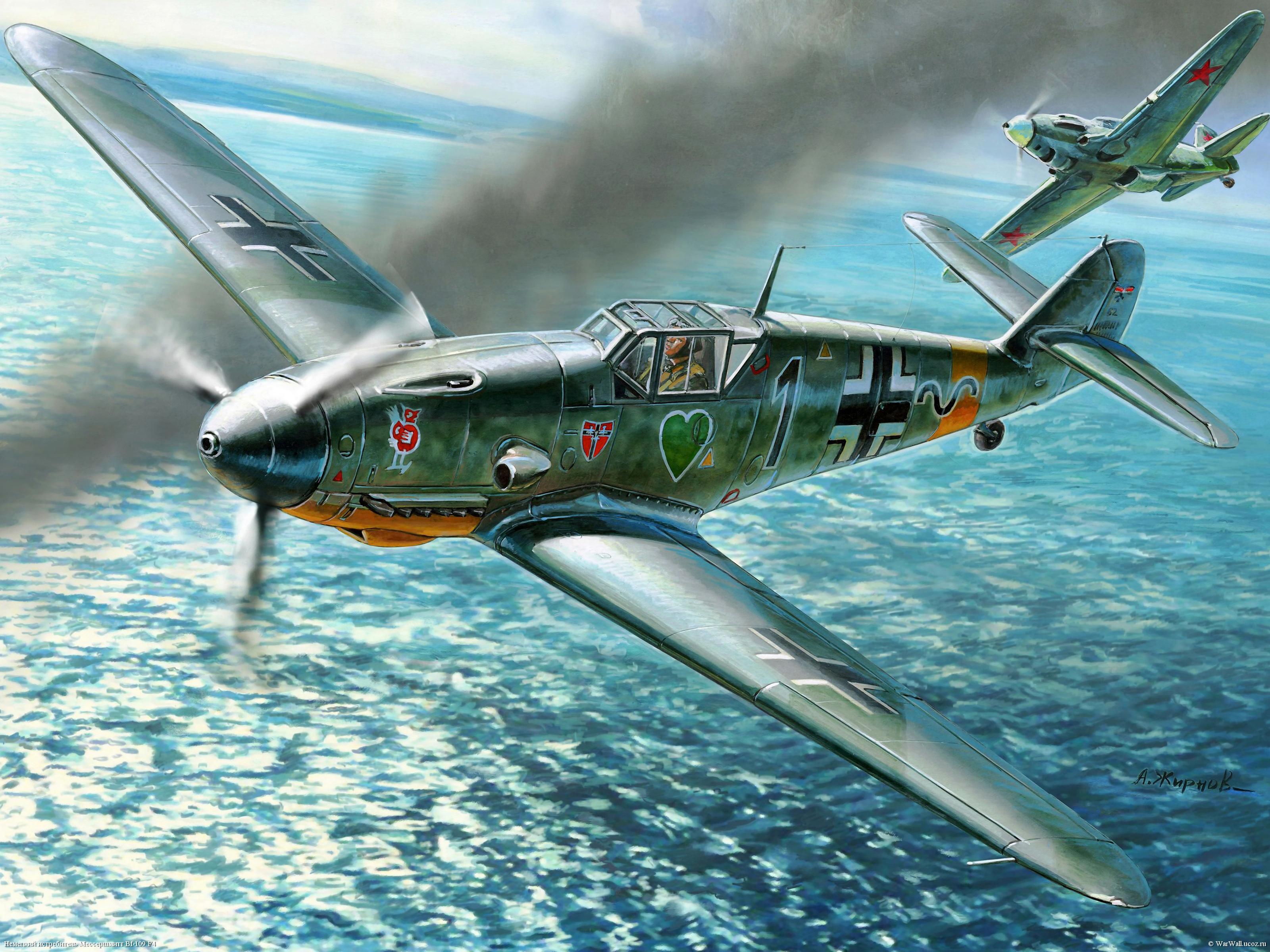Жирнов Андрей. Истребитель Bf-109 F4.