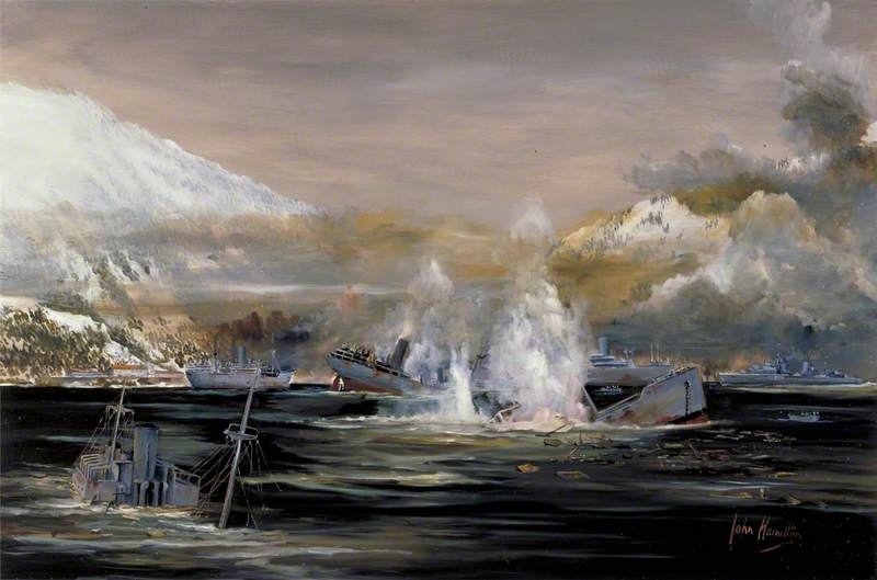 Hamilton John. Гавань Narvik после боя.