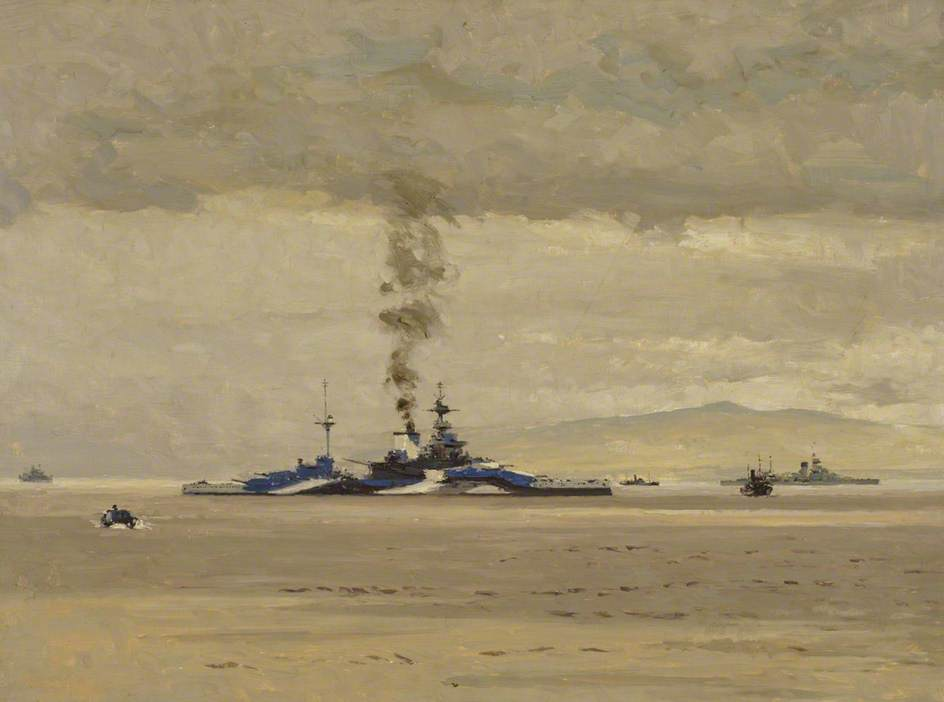 Wilkinson Norman. Линкор «Malaya».