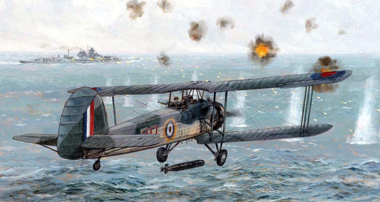 Wright Paul. Атака на линкор «Bismarck».