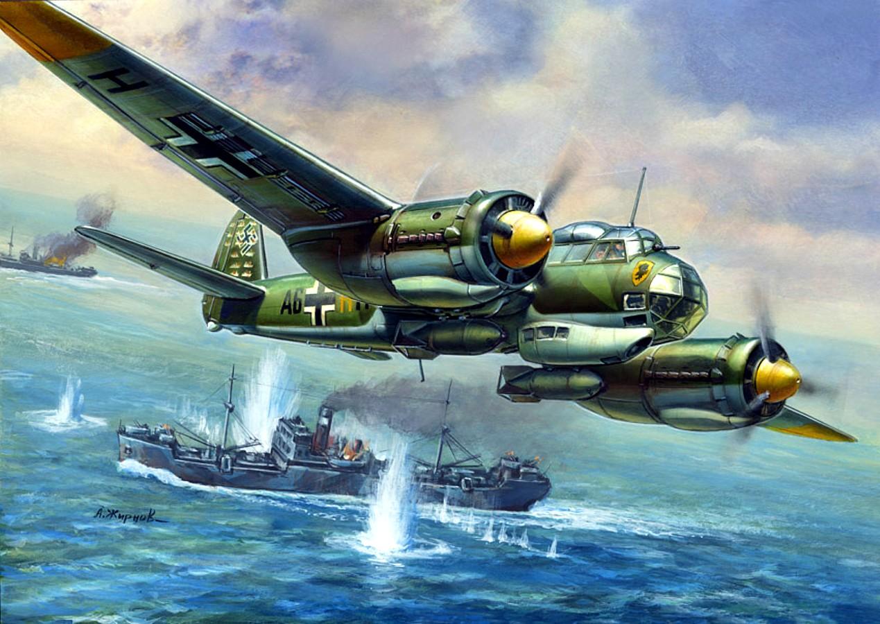 Жирнов Андрей. Бомбардировщик Ju-88.